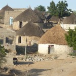 Traditional village houses on the road to Keren