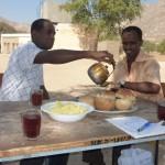 Tea & scrambled eggs with Muzguna, the headteacher