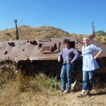 One of many tanks from the war of independence still rusting in the fields