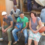 Checking out new benches in Asmara