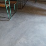 New concrete floors in the classroom